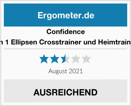 Confidence 2 in 1 Ellipsen Crosstrainer und Heimtrainer  Test