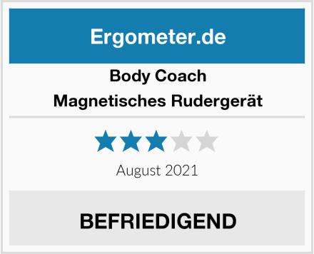 Body Coach Magnetisches Rudergerät Test