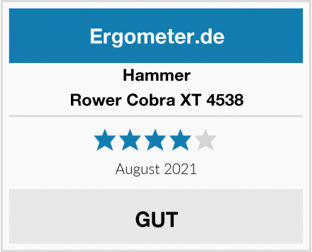 Hammer Rower Cobra XT 4538 Test