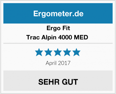 Ergo Fit Trac Alpin 4000 MED  Test