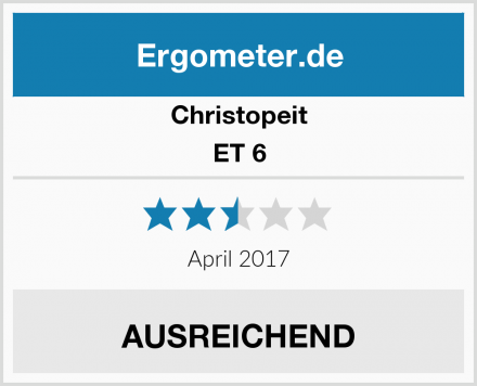 Christopeit ET 6 Test