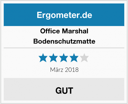 Office Marshal Bodenschutzmatte Test