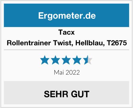 Tacx Rollentrainer Twist, Hellblau, T2675 Test