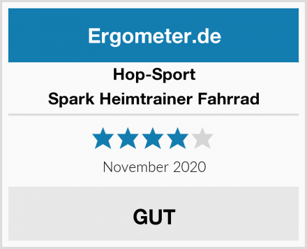 Hop-Sport Spark Heimtrainer Fahrrad Test