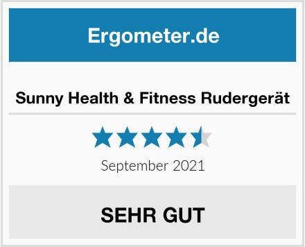 Sunny Health & Fitness Rudergerät Test